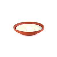 Bougie pot vasque en terre cuite 4 meches somptuo 60x190mm pour l'interieur